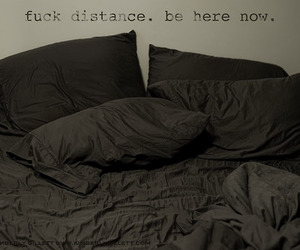 be, distance, and bed image
