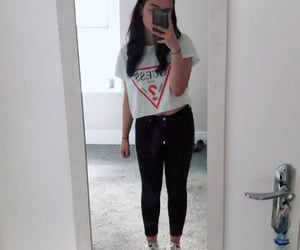 black jeans, topshop, and petite image