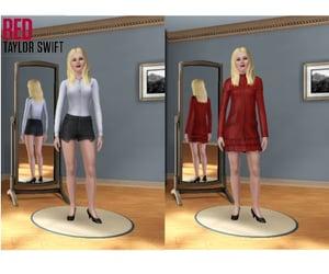 red, taylor, and Taylor Swift image