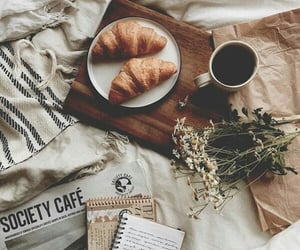 coffee, cozy, and croissant image