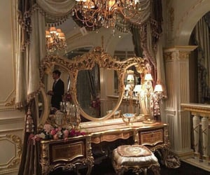 luxury, gold, and mirror image