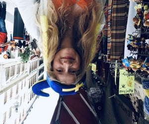 blonde, upside down, and vibes image