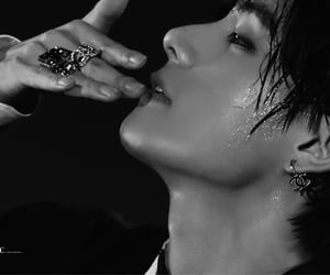 black, black and white, and jin image