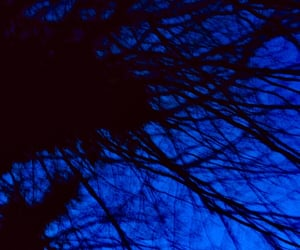 aesthetic, blue, and Halloween image