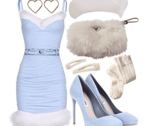 blue, glam, and white image