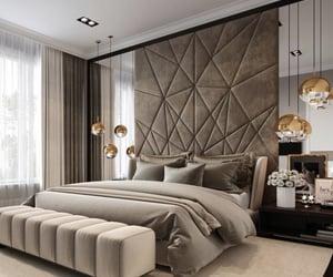 bedroom, beige, and decor image