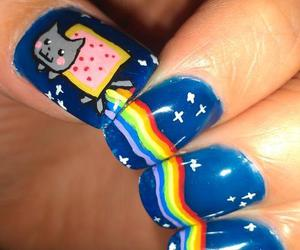 nails, nyan cat, and cat image