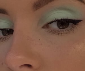 makeup, green, and aesthetic image