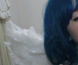 angel, grunge, and blue image