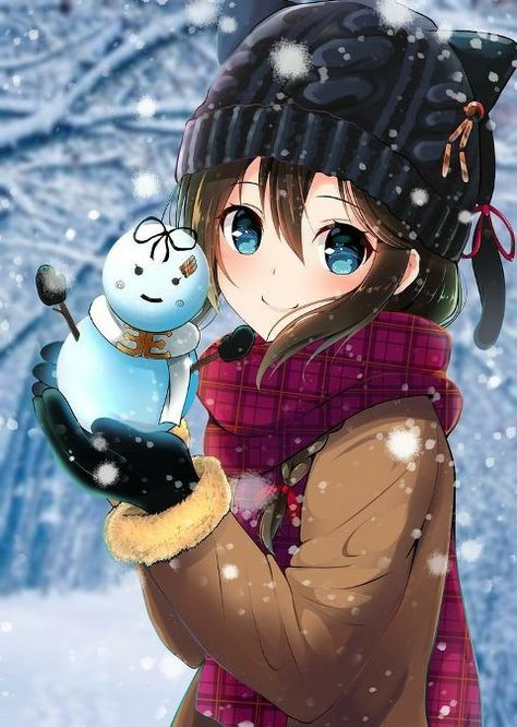 133 Images About Anime Girl Winter Brrr On We Heart It See More About Anime Girl And Winter
