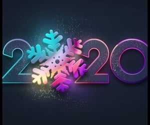 2020, decade, and happy new year image