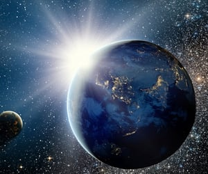 coolest, sunrise, and universe image