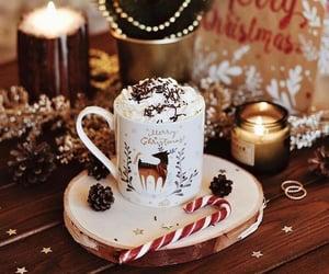 christmas, candle, and hot chocolate image