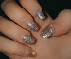 acrylic, nails, and glitter image
