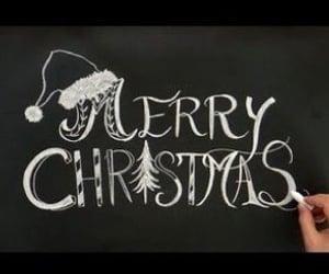 blackboard, december, and christmas image