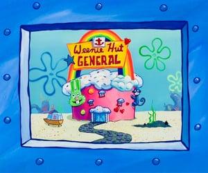 spongebob, spongebob squarepants, and weenie image