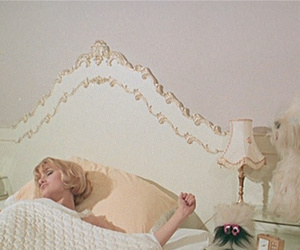 bed, girl, and vintage image