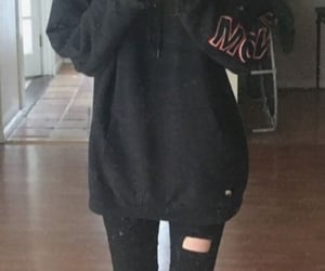black, jeans, and legs image