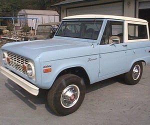 baby blue, Bronco, and cars image