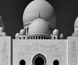 abu dhabi, architecture, and b&w image