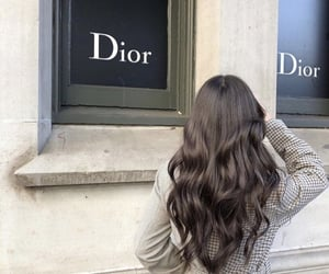 hair, dior, and brunette image