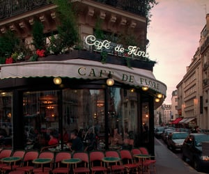 cafe, paris, and city image