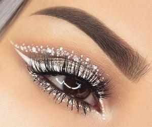 eye, white, and makeup image