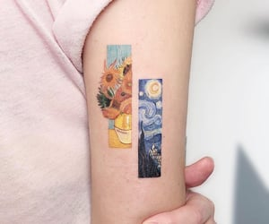 art, tattoo, and van gogh image