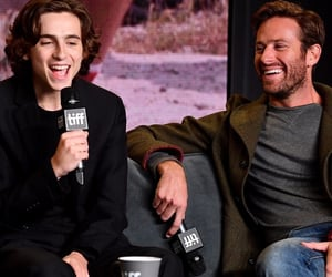 timothee chalamet, call me by your name, and armie hammer image