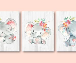 canvas print, nursery art, and elephant poster image