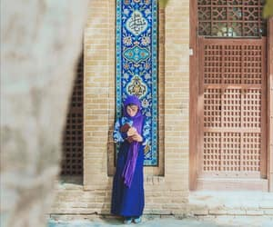 arab, beauty, and blue image