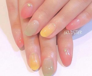 color, hand, and nail image