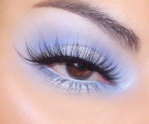 makeup, blue, and eyeshadow image