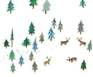 background, forest, and raindeer image
