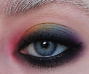 grunge, rainbow, and rainbow make-up image