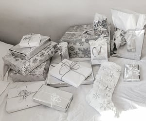christmas, gifts, and white image