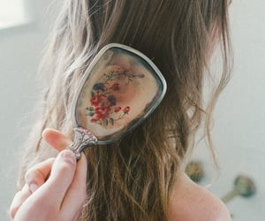 hair, girl, and brush image