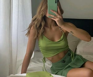 aesthetics, green, and style image
