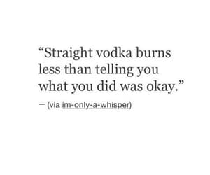 quotes, vodka, and black and white image
