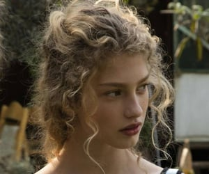 girl, blonde, and curly hair image