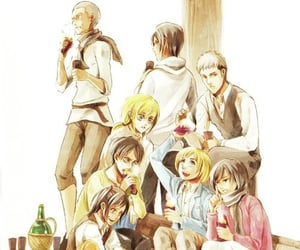 armin, snk, and historia reiss image