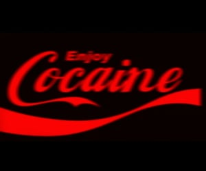 aesthetic, black, and cocaine image