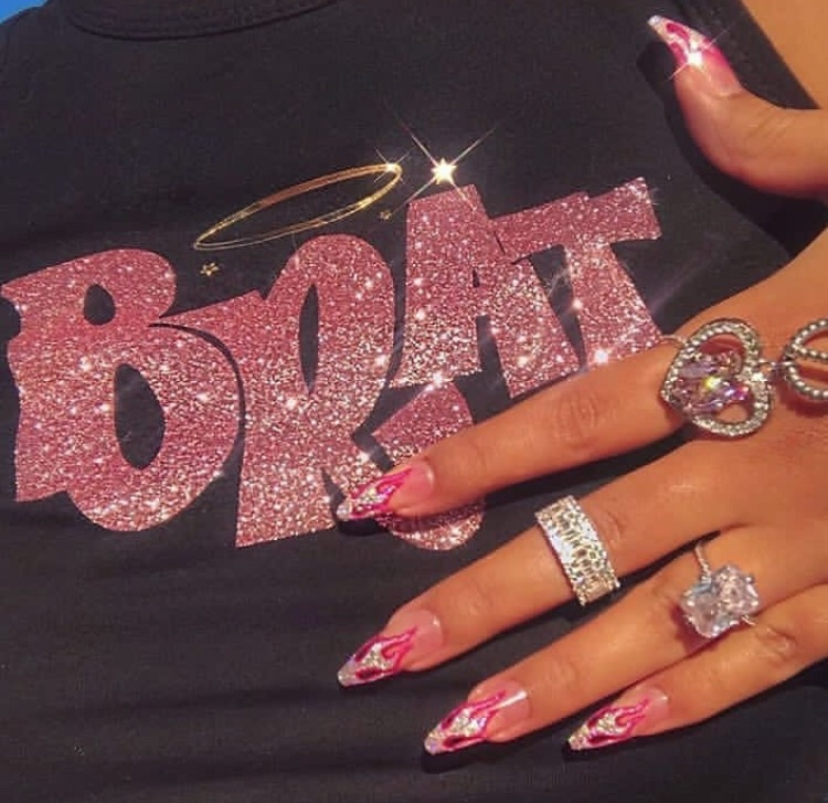 bratz, pink, and nails image
