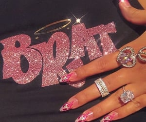 nails, pink, and bratz image