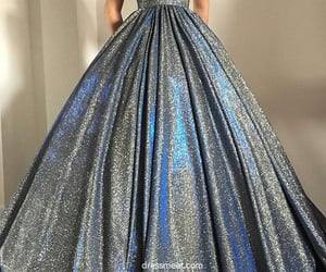 prom dress, ball gown prom dress, and v neck prom dresses image