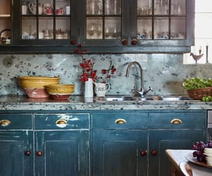 hutch, interiors, and kitchen image