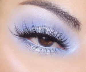 beauty, eyeshadow, and blue image