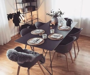 chic, lifestyle, and dining room image