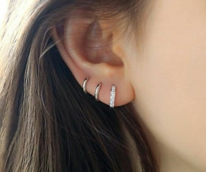 ear, hair, and earings image