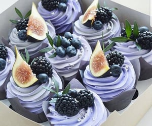 blue, cupcakes, and delicious image